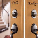 Hello Goodbye Decal - 0024 - Door Decal - Door Sticker - Hello Goodbye - Hello Door Decal - Goodbye Door Decal - Door Decoration, Door Decor