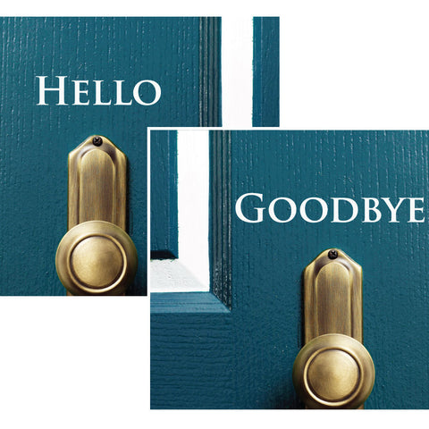 Hello Goodbye Decal - 0023 - Door Decal - Door Sticker - Hello Goodbye - Hello Door Decal - Goodbye Door Decal - Door Decoration - Decor