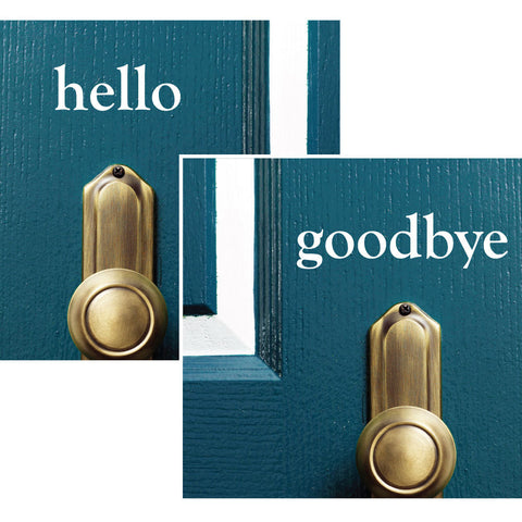 Hello Goodbye Decal - 0045 Door Decal - Door Sticker - Hello Goodbye - Hello Door Decal - Goodbye Door Decal - Door Decoration - Door Decor