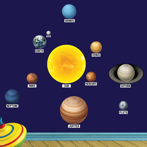 planet wall stickers for children