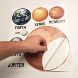 peel and stick planets