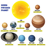 Planet Wall Decals, Solar System Wall Stickers, 0497, Peel and Stick, Removable Wall Art, planet wall stickers for kids room