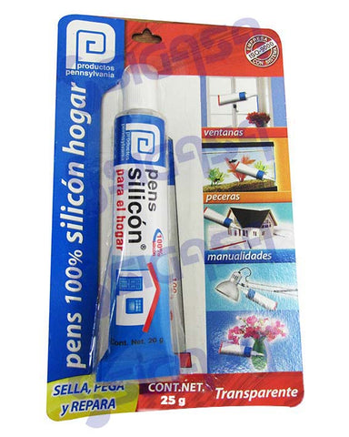 PENS SILICON TRANSPARENTE TUBO 20 GRS BLISTER.