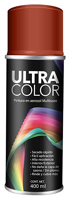 PINTURA ULTRACOLOR ROJO OXIDO AEROSOL 400ml.