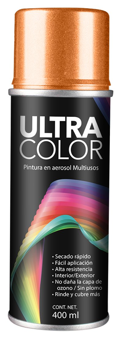 PINTURA ULTRACOLOR NARANJA NEON AEROSOL 400ml.