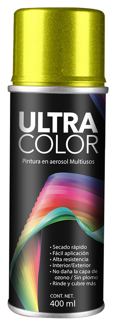 PINTURA ULTRACOLOR AMARILLO NEON AEROSOL 400ml.