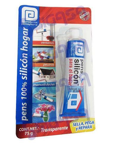 PENS SILICON TRANSPARENTE TUBO 75 GRS BLISTER.