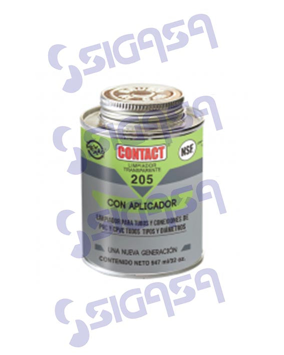 CONTACT LIMPIADOR 240 ml. TRANSPARENTE PARA PVC, MEXAR-CONTACT, SIGASA, SIGASA