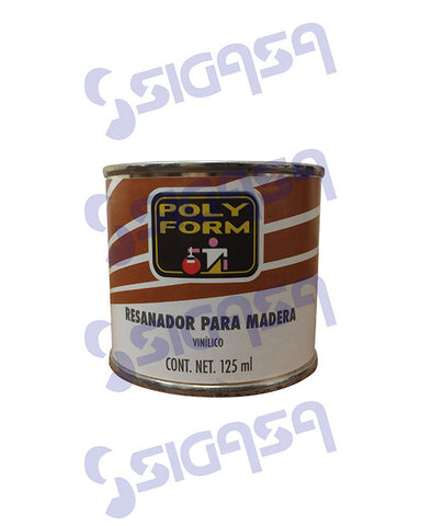 resanador nogal 125ml.  polyform - SIGASA