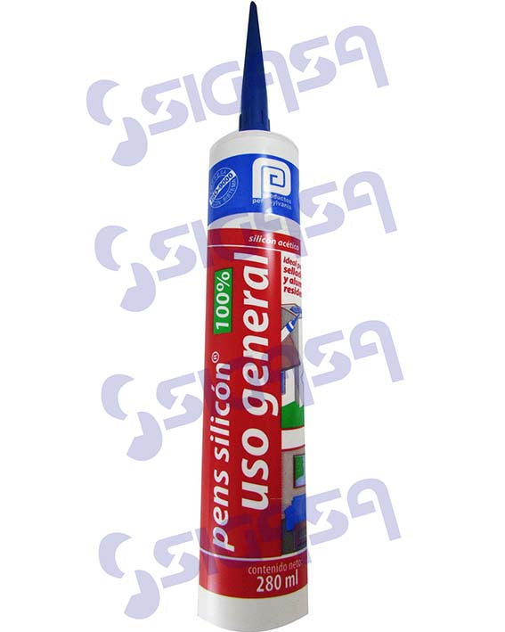 pens silicon uso general negro 280 ml cartucho *** - SIGASA