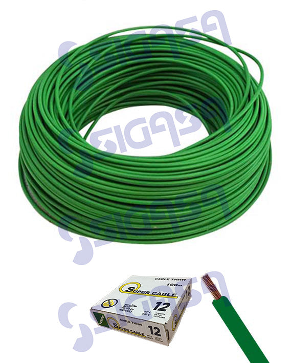 CABLE SUPERCABLE THW # 12 VERDE (ROLLO 100 MTS), SUPERCABLE, SIGASA, SIGASA