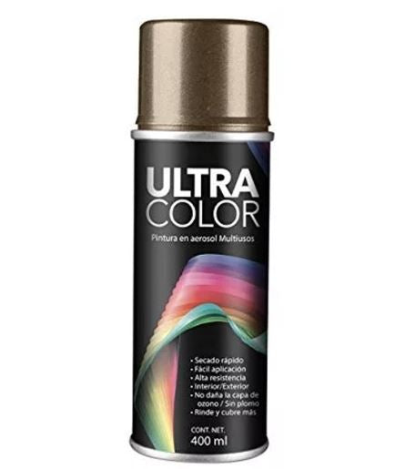PINTURA ULTRACOLOR CAFÉ ANONIZADO AEROSOL 400ml.