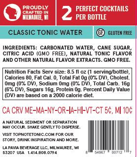 16 Bottles Sparkling Classic Tonic, 2020's Best Craft Tonic Water