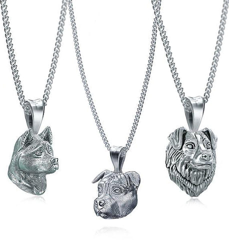 Puppy Face Necklace