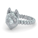Akita Breed Jewelry Twisted Wire Rope Ring