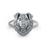 Australian Shepherd Signet Ring - TINY BLING