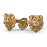 Australian Shepherd Breed Puppy Face Cufflinks - TINY BLING
