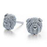 Affenpinscher Breed Puppy Face Earring Studs