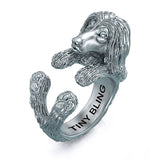 Afghan Hound Breed Jewelry Cuddle Wrap Ring - TINY BLING
