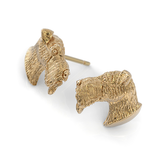 Airedale Terrier Puppy Face Earring Studs - TINY BLING