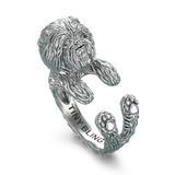 Affenpinscher Breed Jewelry Cuddle Wrap Ring - TINY BLING