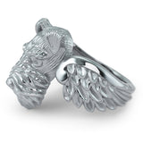 Airedale Terrier Angel Wings Memorial Ring