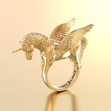 Winged Unicorn Pegacorn Equestrian Ring