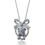 English Bulldog Breed Jewelry Puppy Love Heart Pendant - TINY BLING