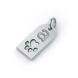 Bailey Dog Tag Paw Print Pendant - TINY BLING