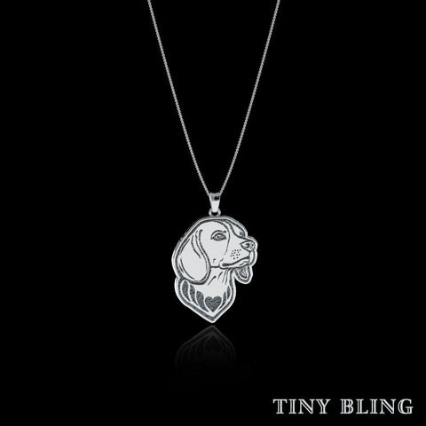Beagle Breed Jewelry Necklace - TINY BLING