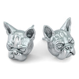 Boston Terrier Face Earring Studs