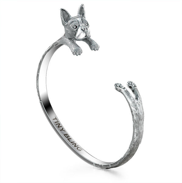 Boston Terrier Breed Jewelry Cuddle Cuff Bracelet