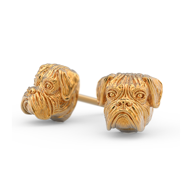 Boxer Breed Jewelry Puppy Face Earring Studs - TINY BLING