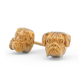 Boxer Breed Jewelry Puppy Face Earring Studs