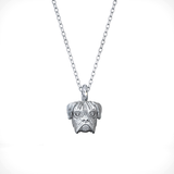 Boxer Breed Puppy Face Charm