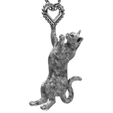 Kitty Cat Heart Charm