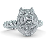 Chow Chow Breed Twisted Wire Rope Ring