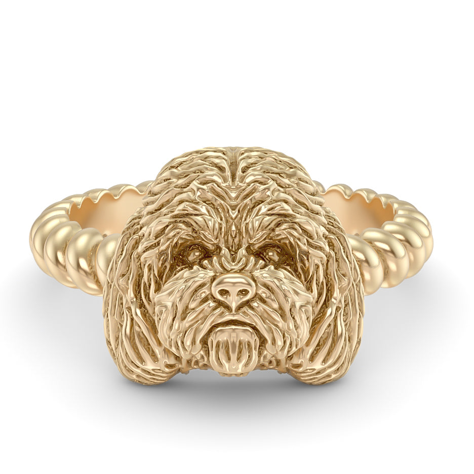 Cockapoo Breed Twisted Wire Rope Ring