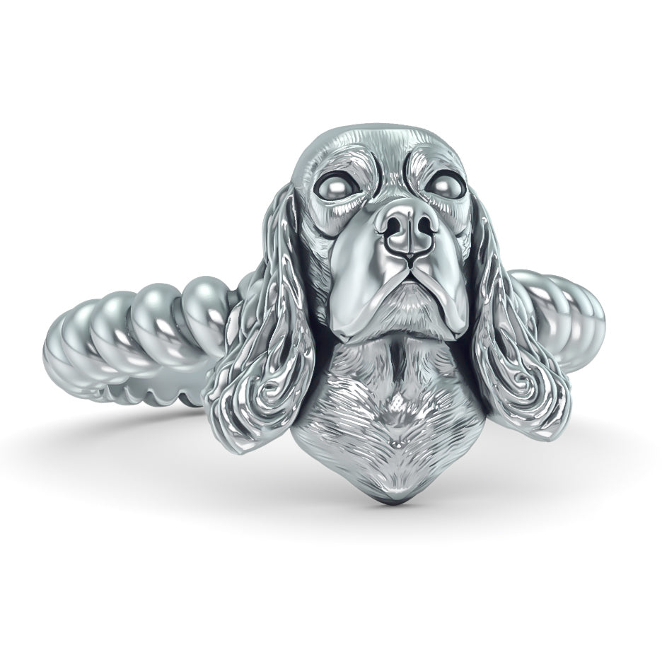 Cocker Spaniel Breed Twisted Wire Rope Ring