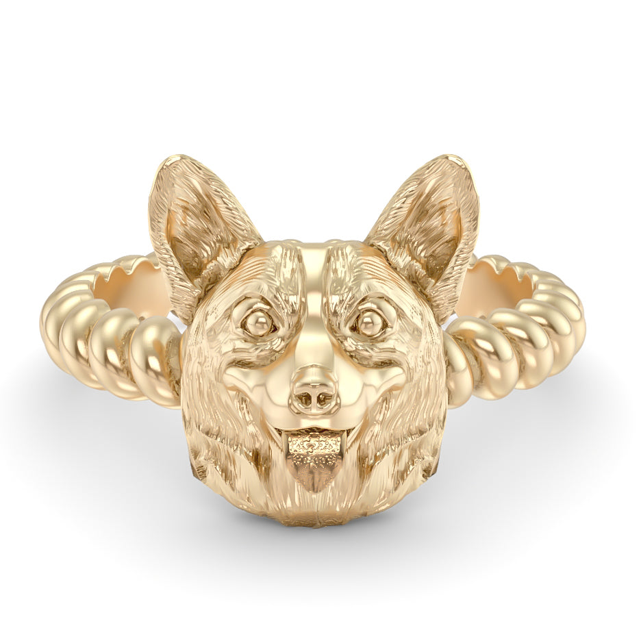 Corgi Breed Twisted Wire Rope Ring
