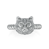 Persian Love Cat Twisted Wire Rope Ring
