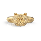 Fluffy Persian Love Feline Ring