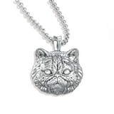 Fluffy Persian Cat Breed Diamond Pendant