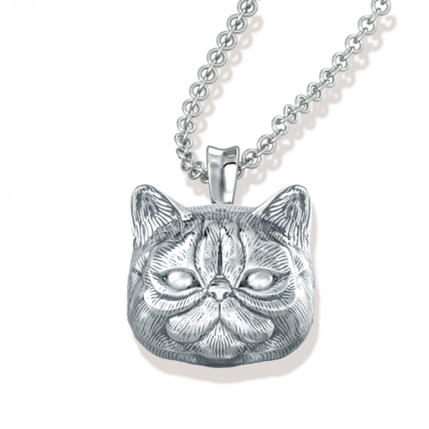Persian Cat Breed Face Pendant