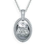 Fluffy Persian Face Diamond Pendant