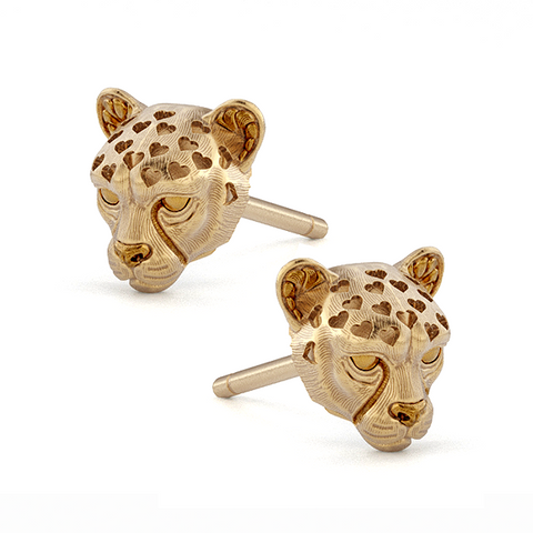 Cheetah Love earring gold
