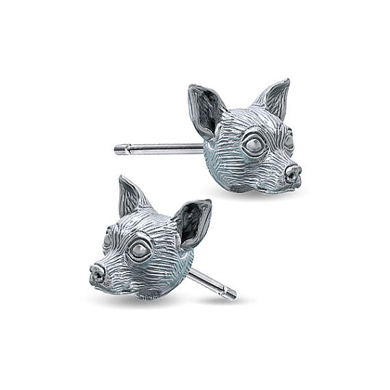 Chihuahua Breed Face Earring Studs