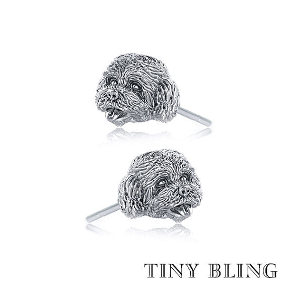 Cockapoo Breed Face Earring Studs