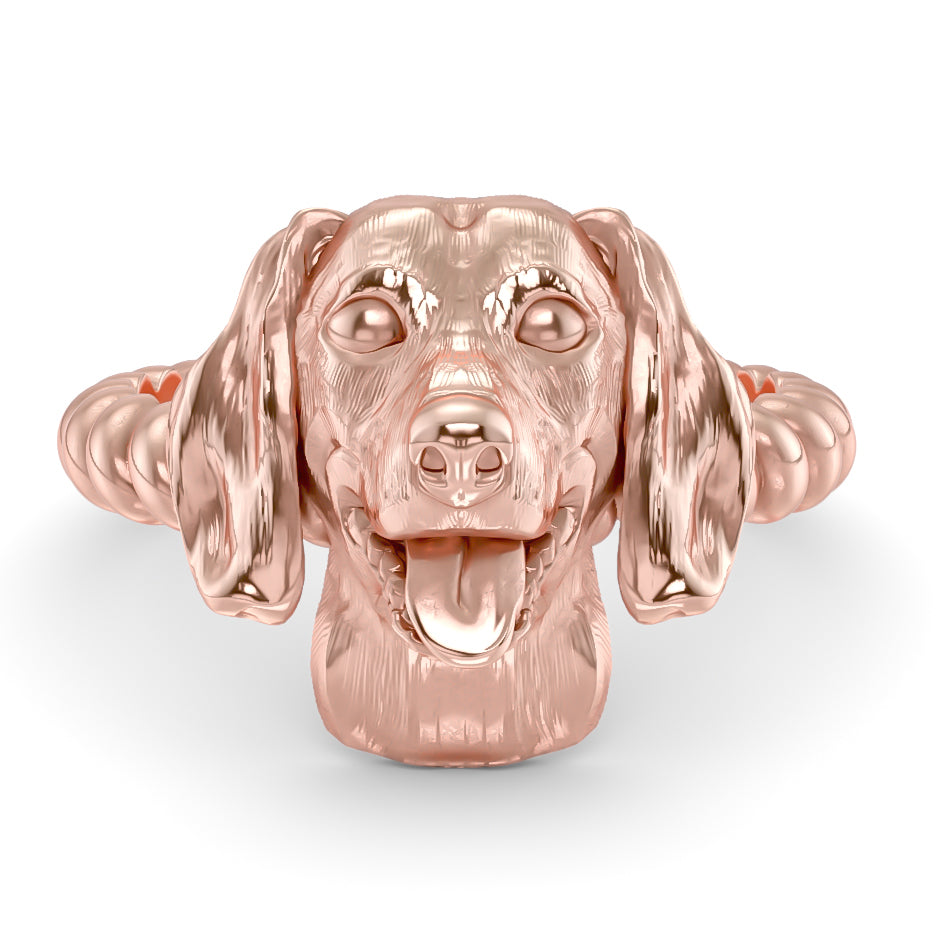 Dachshund Breed Twisted Wire Rope Ring
