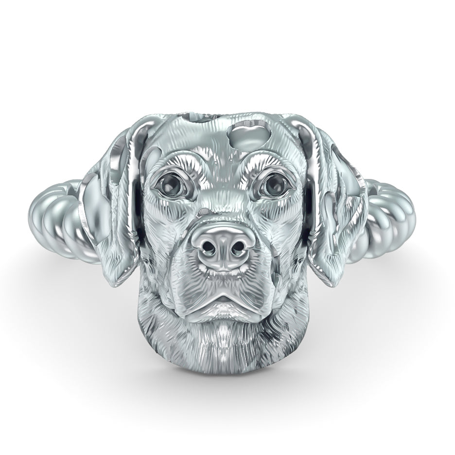 Dalmatian Breed Twisted Wire Rope Ring